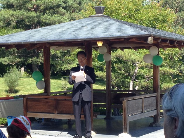 Japanese Consul General Ryosaku Tamura delivering his speech