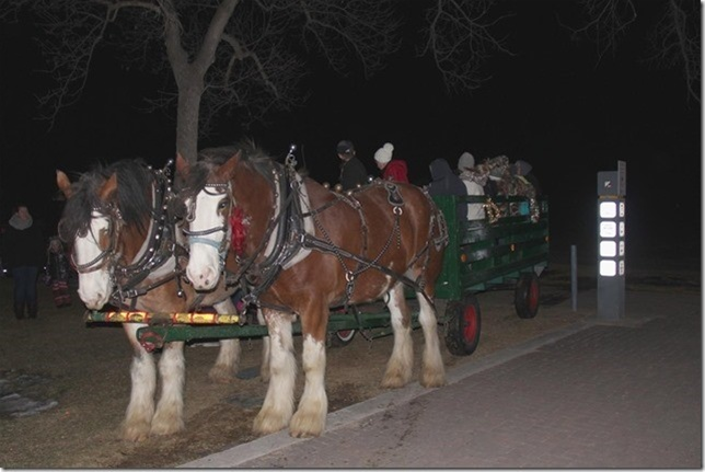Horse and Wagon Rides January 19th  6:30 to 8:30pm